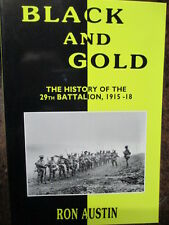 29th Battalion WW1 29th BLACK AND GOLD Australian Military History Book