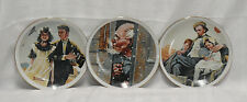Norman Rockwell Set of 3 Plates Made Exclusively for Imm Japan Fine Porcelain