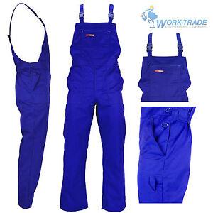 Arbeitslatzhose Arbeitskleidung Blau Latzhose Blaumann Arbeitshose Gr. 48 - 62