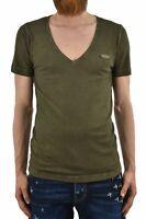 Dsquared2 T-Shirt Vert Homme Plaque Mod.S74GC0669S21780692