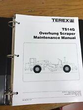 Terex TS14G OVERHUNG SCRAPER Shop Maintenance Manual