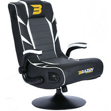 Pre-Loved BraZen Panther Elite 2.1 Bluetooth Surround Sound Gaming Chair - White