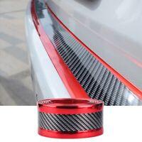 Accessory Red Carbon Fiber Car Door Plate Sill Scuff Cover Anti Scratch Sticker