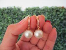 .07 Carat Diamond Yellow Gold Dangling Earrings 18k sepvergara