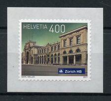 Switzerland 2017 MNH Swiss Railway Stations Zurich HB 1v S/A Set Trains Stamps
