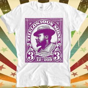 Thelonious Monk Jazz Bop Music Retro Cool Top T Shirt 2998