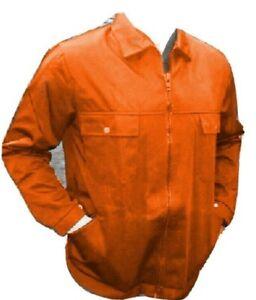 ORANGE JACKET - heavyweight work coat - DRIVERS - ZIP FRONT BRITISH  JK34