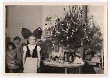 PHOTO ANCIENNE Classe de Maternelle École 1950 Déguisement Alsace Enfant Noël