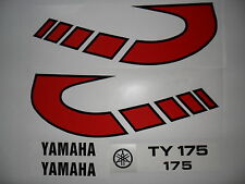 Yamaha TY 175  tank decals-twinshock trials