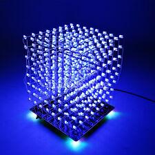 SainSmart 3D Squared DIY Kit 8x8x8 5mm LED Cube White LED Blue Square Lamp