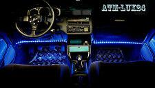 2x Iluminación de espacio para los pies COCHE AZUL Tira LED Listón 33cm 18SMD