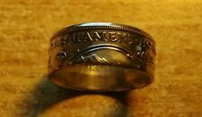 AUSTRALIA 1927 PARLIAMENT FLORIN 925 SILVER RING, Size 10- Free sizing 4-15