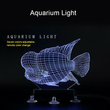 Waterproof Aquarium Fish Tank Submersible RGB 3D LED Illusory Fish Light Lamp