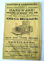 1867 New York Seneca Falls Olive Branch Stove Pontius Advertisement Ad Furniture