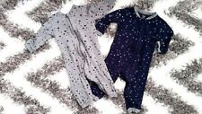 George Walmart Lot Set Of 2 Zipper Playsuit 12 - 18 Months Cotton Boy Girl