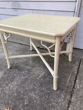 Vintage Chinese Chippendale Bamboo Coffee Side Table 1960