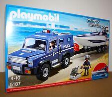 PLAYMOBIL® 5187 Polizei Truck mit Speedboot   NEU&OVP