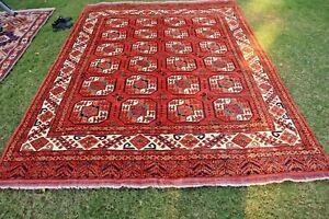 COLLECTORS' PIECE Stunning Natural Vegetable Dye Washable Chubash Turkoman Rug