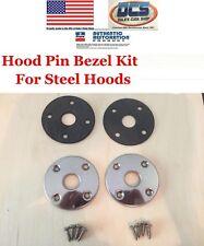 1970 1974 Plymouth Cuda Barracuda E Body Hood Pin Bezels & Gaskets Kit New MoPar