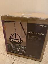 Allen Roth Dark Light Brown Gazebo Chandelier with 4 LED Candle Lights