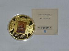 Medaille - Das Vaterunser, Gott Vater im Himmel, vergoldet, PP, mit Echtheits-Z.