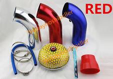 """3"""" Universal Short Ram Racing High Flow Air Intake Kit Pipe + Filter + Clamp"""