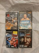 WWE Playstation 2 PS 2 4 Game Lot - Here Comes the Pain, Crush Hour Tested