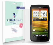 iLLumiShield Matte Screen Protector w Anti-Glare/Print 3x for HTC One X+