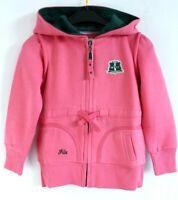 FILA BNWT Med Pink Long Sleeve Zip Up Hooded Girls Hoodie Age 8 128cm
