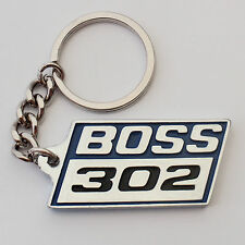 BOSS 302 Keychain Key Chain BLUE, Chrome, Brand New, suit Mustang Ford pony Fans