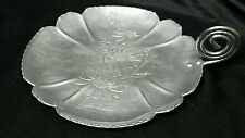 Vintage Farber & Shlevin Inc. Aluminum Floral Dish with Scroll Handle