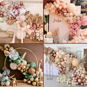 Coffee Green Latex Balloon Garland Arch Kit Retro Beige Gold Wedding Party Decor