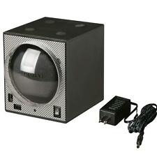 Diplomat Boxy Brick Carbon Fiber Pattern Single Watch Winder M-31-403A