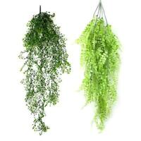 PVC Artificial Greenery Ivy Leaves Garland Hanging Garden Wall Decor