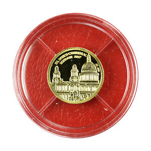 01080 Congo Coin 100 Francs 2017 St. Paul's London 1/3 g Gold .999 Proof
