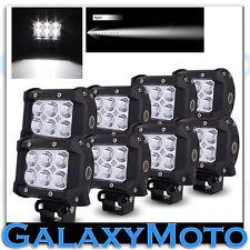 "8pcs 4"" Cree White 6 LED 18w Spot Beam Adjustable Off Road Roof/Work Light bar"