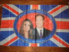 Prince William & Catherine Kate Flag Banner Royal Engagement & Wedding 5ft X 3ft