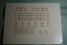 GOLD NEW HAVEN DECALS & LETTERING ELECTRIC & STEAM LOCOMOTIVE - NEW OLD STOCK