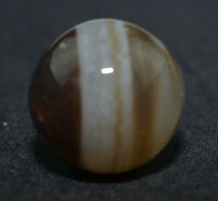 "Marble Vintage Hand Ground Banded Black Bullseye Agate Mint 11/16"" Mar380"