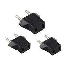 3x USA US To EU Europe Travel Charger Power Adapter Converter Wall Plug Home RS