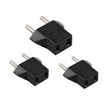 3Pcs USA US To EU Europe Travel Charger Power Adapter Converter Wall Plug Home C