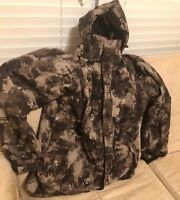 The North Face Cryptic Camo Hyvent Jacket Mens Medium Ski Snowboard Brown Coat