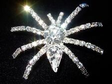GORGEOUS SMALL SPIDER RHINESTONE BROOCH