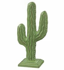 """Carved Wood Catcus Decor Southwest 9"""" Tall Green Regal Art & Gift 20287 New"""
