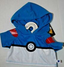 BUILD A BEAR NWT Pokemon Blue Pokeball Hoodie for Charmander or Pikachu BABW New