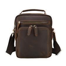 Men Genuine Leather Shoulder Messenger Sling IPAD Bag Crossbody Business Satchel