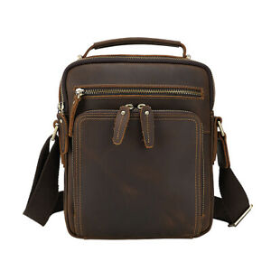 Men Real Leather Business Shoulder Bag Cross Body Bag Sling Satchel Briefcase