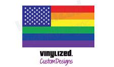 2x Gay Rights American LGBTQIA+ Equal Decal Sticker Equality LGBT Rainbow LGBTQ