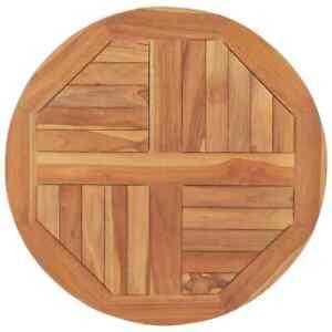 vidaXL Table Top Solid Teak Wood Round 2.5 cm 60 cm Brown