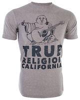 TRUE RELIGION Mens T-Shirt CALIFORNIA BUDDHA Heather Grey $89 Jeans NWT